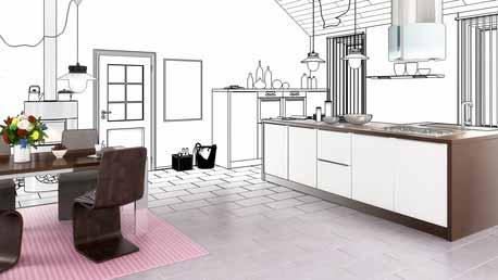 Grafik zur Planung einer Küche